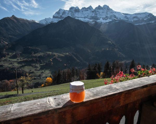 Confiture de la ferme des Lisats à Val d'Illiez produits frais de la vallée