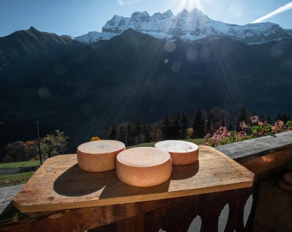 Tommes de la ferme des Lisats à Val d'Illiez produits frais de la vallée