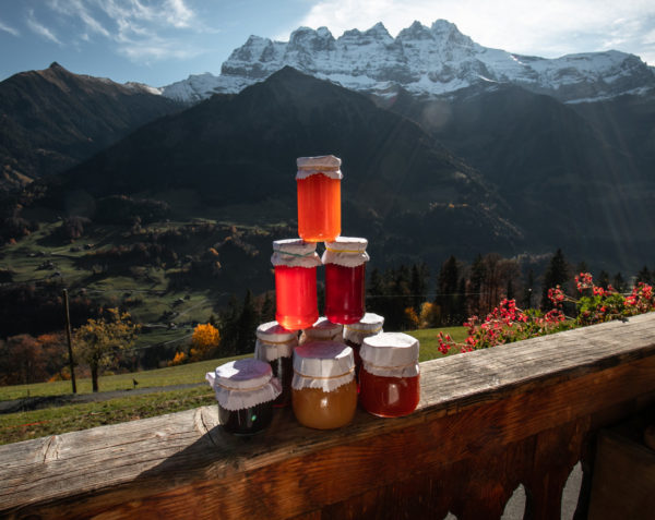 Confitures de la ferme des Lisats à Val d'Illiez produits frais de la vallée
