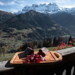 Viande séchée de la ferme des Lisats à Val d'Illiez produits frais de la vallée
