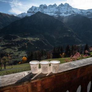 Yogourt de la ferme des Lisats à Val d'Illiez produits frais de la vallée